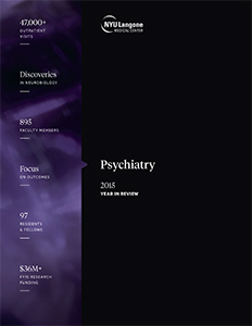 NYU Langone Department of Psychiatry 2015 Year in Review