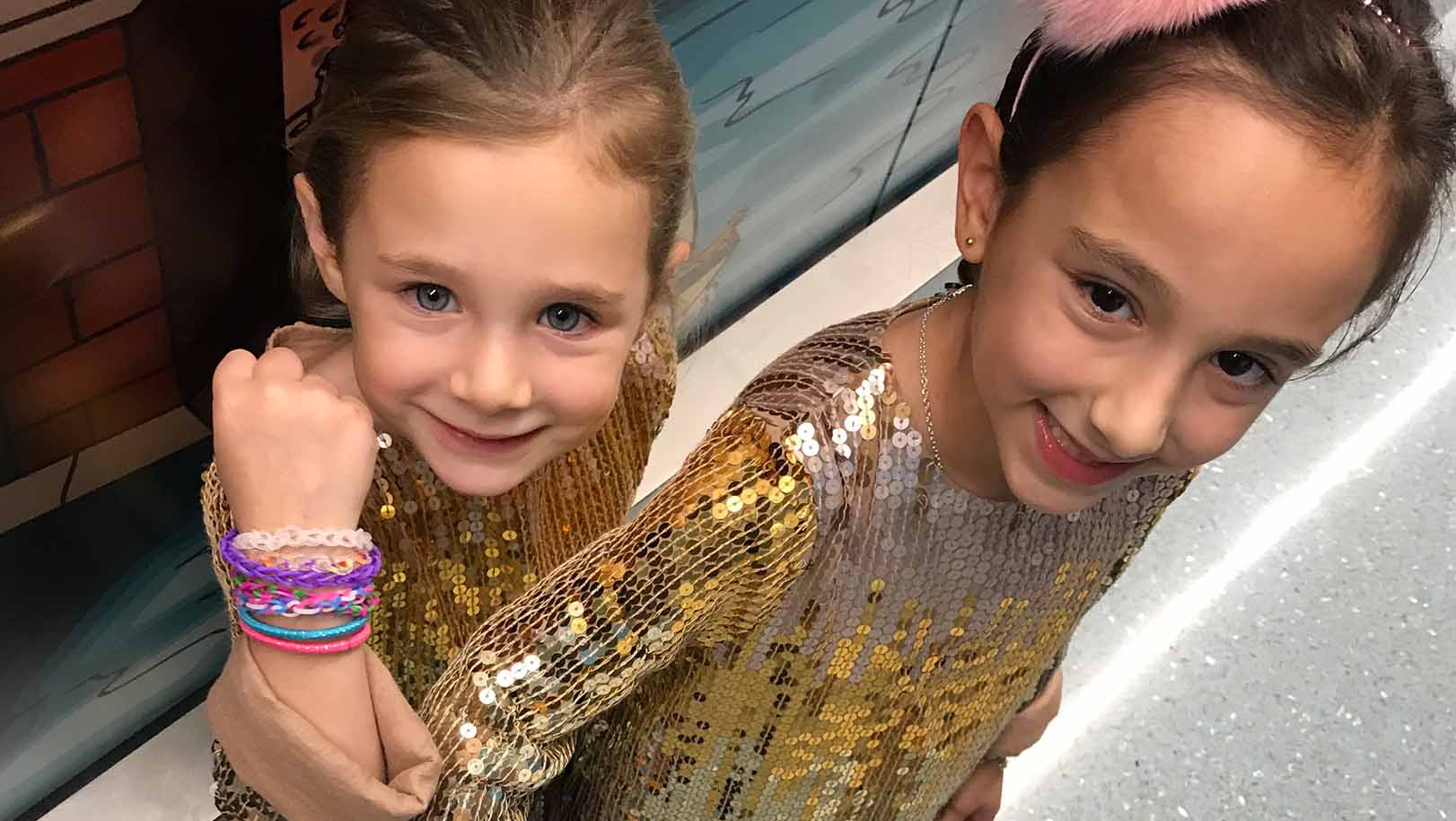 Sienna and Skye donated proceeds from their bracelet sales to Hassenfeld Children's Hospital
