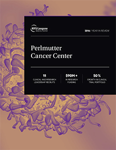 Perlmutter Cancer Center 2016 Year in Review