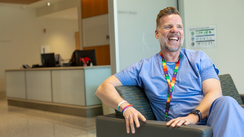Meet Kevin Moore. He's the LGBTQ+ clinical coordinator and patient liaison at NYU Langone Health. He's also helping to change the landscape of LGBTQ+ care at NYU Langone.