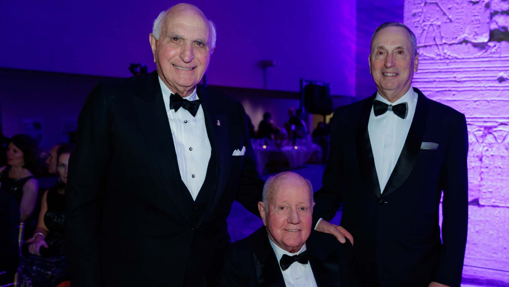 Kenneth G. Langone, Thomas S. Murphy and Robert I. Grossman, MD at the NYU Langone Violet Ball