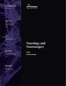 NYU Langone Departments of Neurology & Neurosurgery 2015 Year in Review