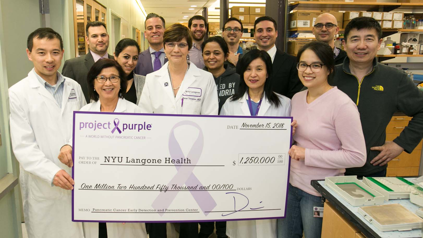 Purple Unites to Open Early Detection Center for Pancreatic Cancer
