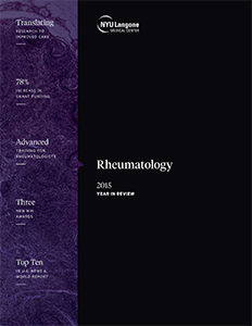 NYU Langone Division of Rheumatology 2015 Year in Review