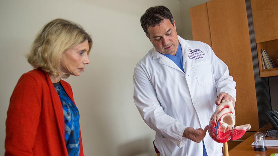 Cardiac Surgeon Dr. Mathew Williams with Patient