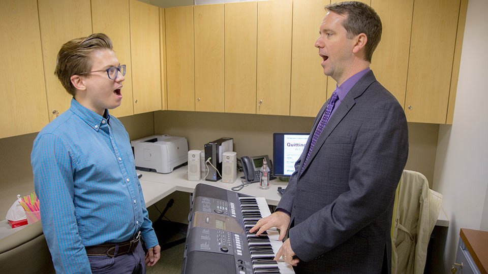 Doctor and Patient Singing with Keyboard