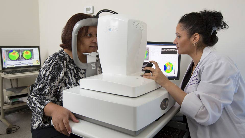 Doctor Conducts an Eye Exam