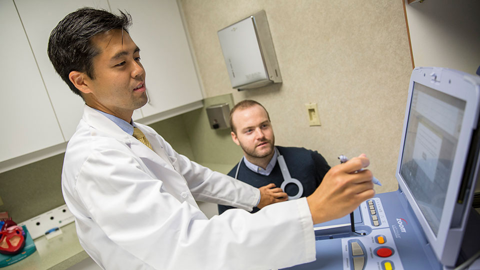Doctor Examines Patient at NYU Langone Cardiovascular Associates