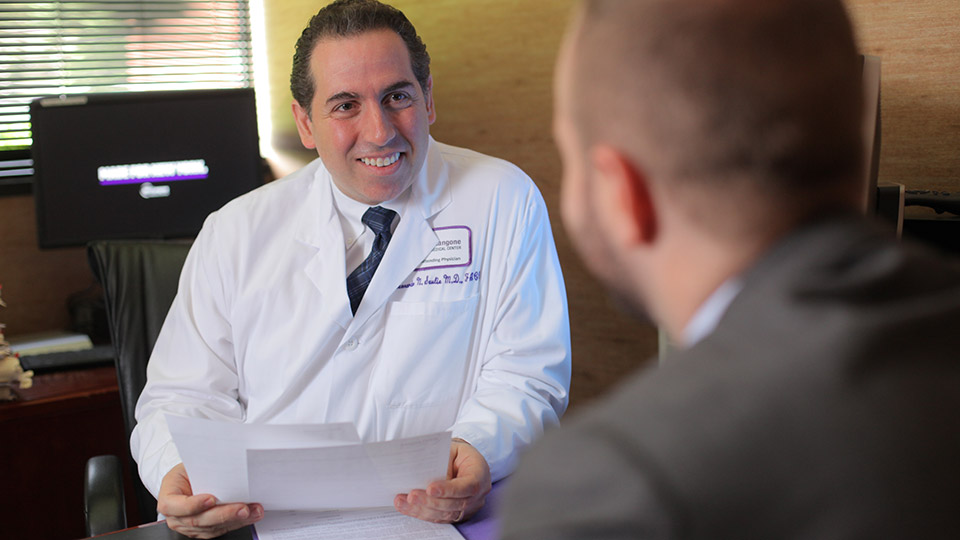 Doctor Speaks With Patient at Great Neck Cardiology Group