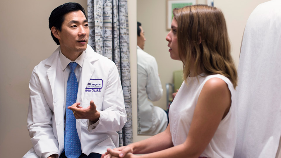 Dr. Andrew Chi and Patient