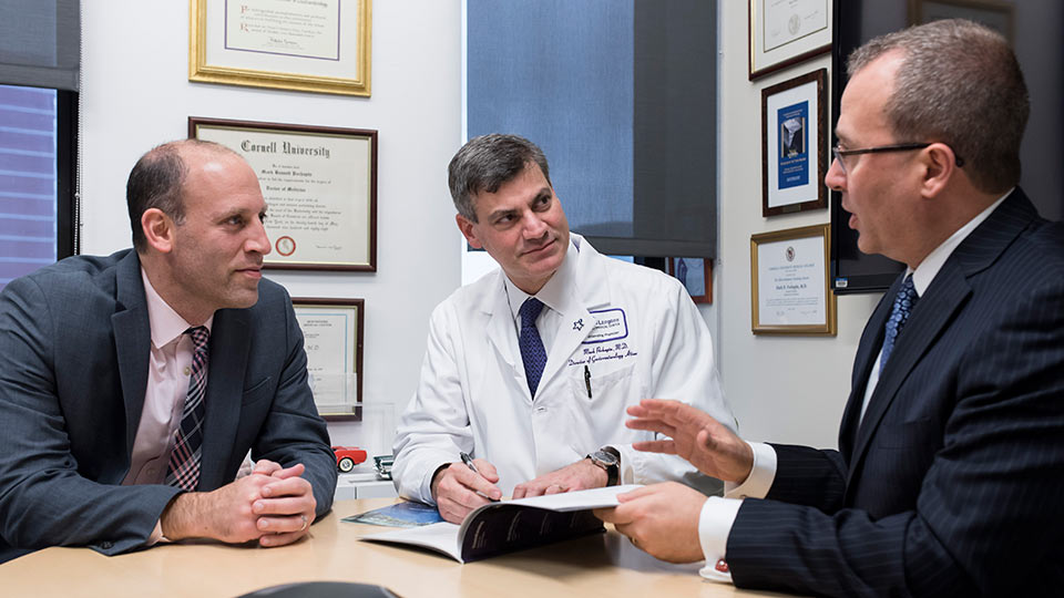 Dr. David Hudesman, Dr. Mark Pochapin, and Dr. Feza Remzi