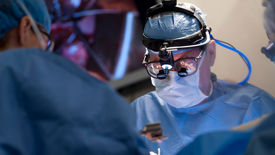 Dr. Aubrey C. Galloway Performs Mitral Valve Surgery