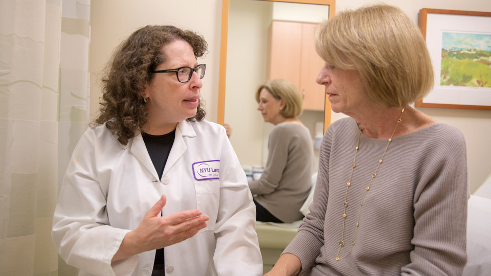 Dr. Freya Schnabel Talks to Patient