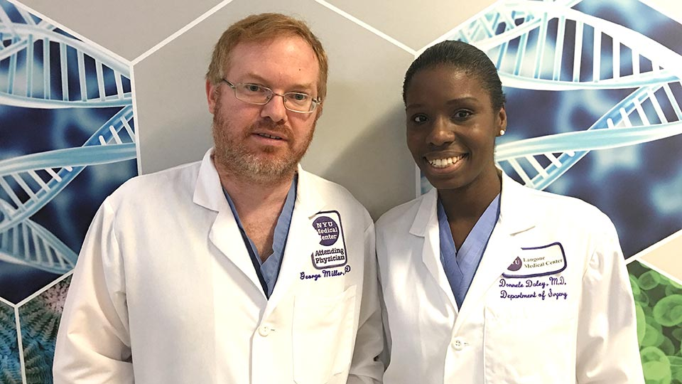 Dr. George Miller and Dr. Donelle Daley