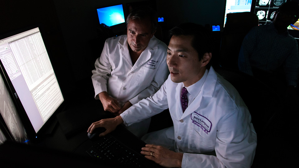 Dr. John Golfinos and Dr. Andrew Chi Review Imaging Results