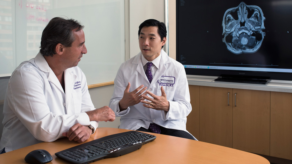 Dr. John Golfinos and Dr. Andrew Chi