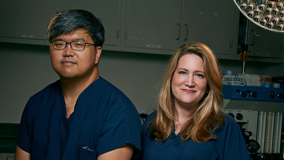 Dr. Lee Zhao and Dr. Rachel Bluebond-Langner