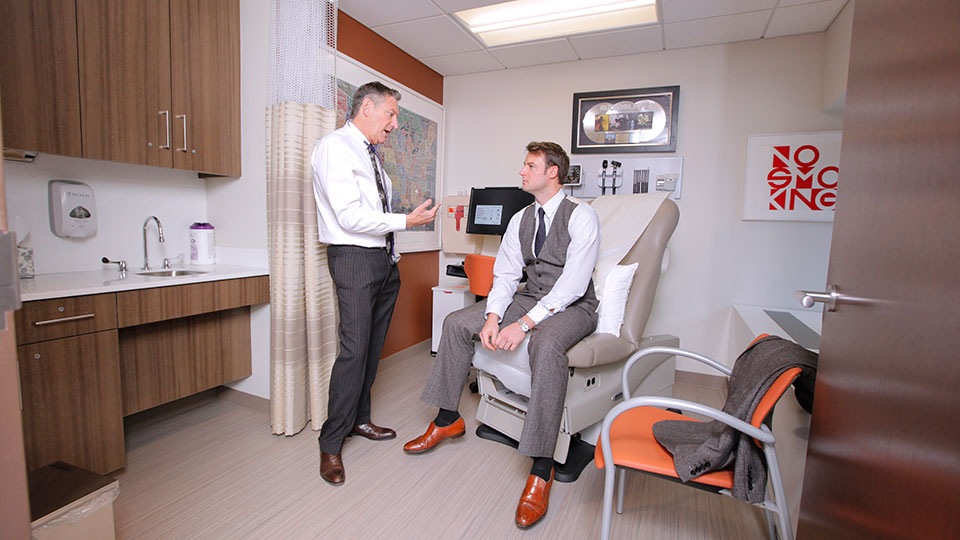 Dr. Steven Lamm with patient