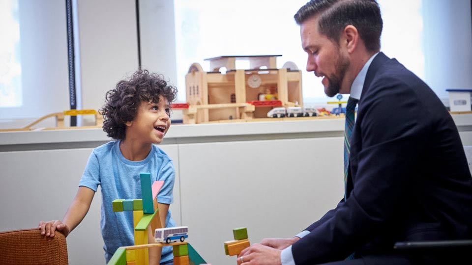 Dr. Timothy Verduin and Patient Play at the Child Study Center