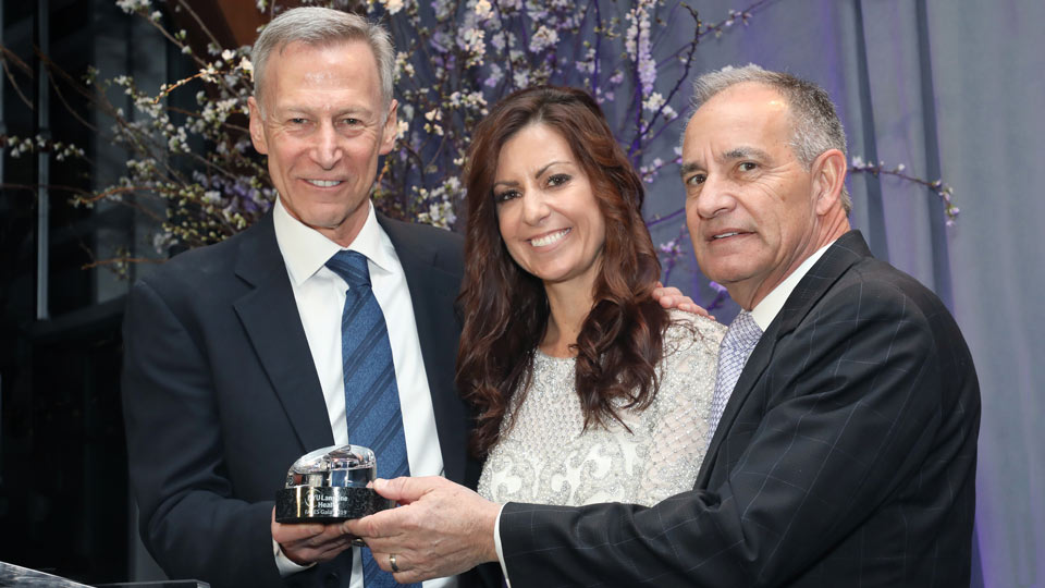 Honorees Shawna and Michael Camilleri with Dr. Orrin Devinsky