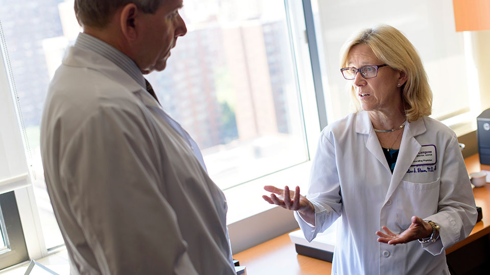 Geriatrician Dr. Caroline Blaum Speaks with Colleague