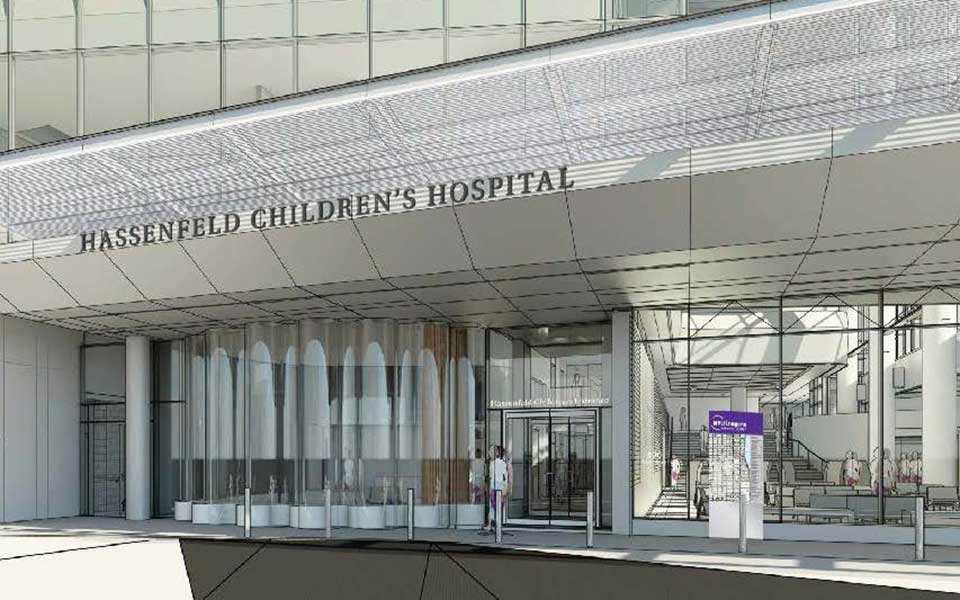 Hassenfeld Children's Hospital Entrance Rendering