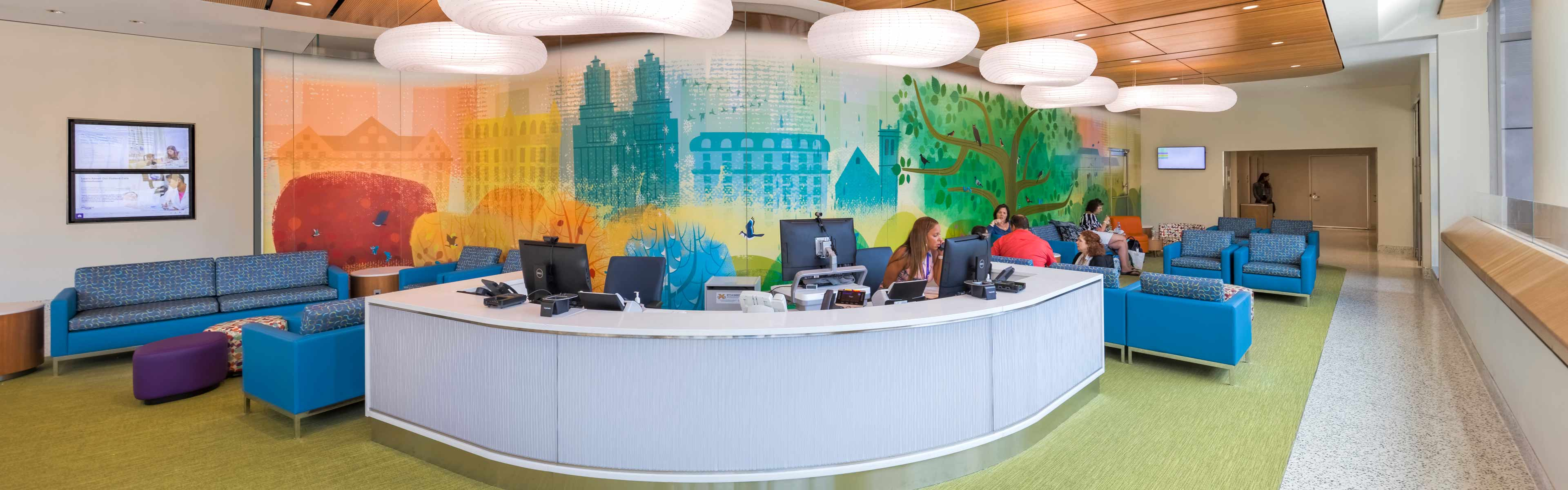 Hassenfeld Children's Hospital Fourth Floor Reception Area