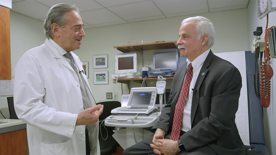 Dr. Larry Chinitz Talks with Patient
