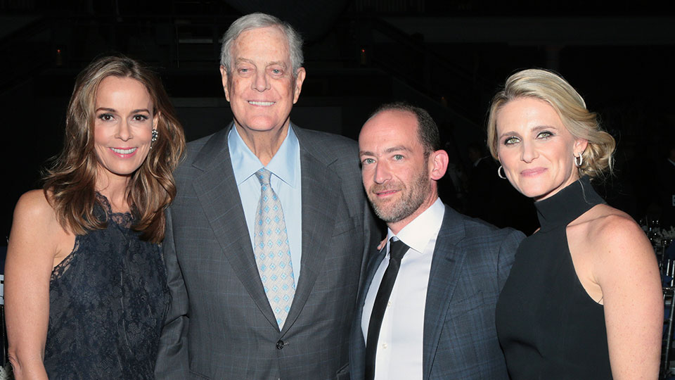 Julia Koch, David Koch, Roy Davidovitch, and Rena Rosenberg