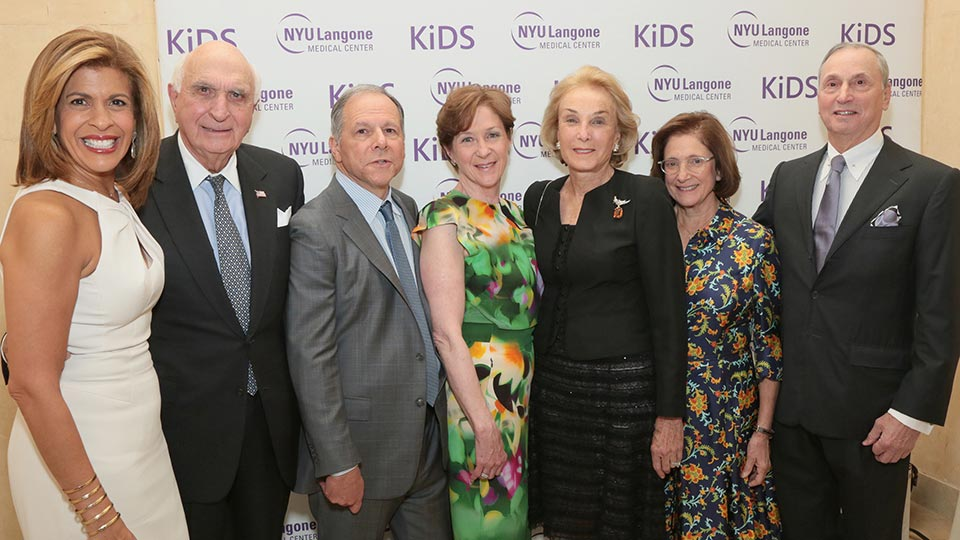 Master of Ceremonies, Chair Members, Honorees, and Guests at KiDS of NYU Langone Springfling Gala