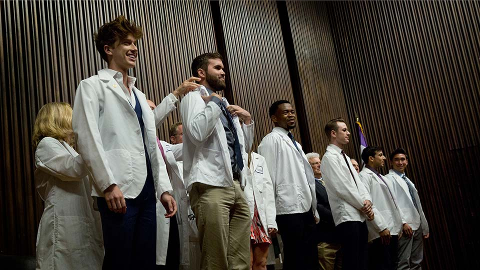 Medical Students Receive White Coats at White Coat Ceremony