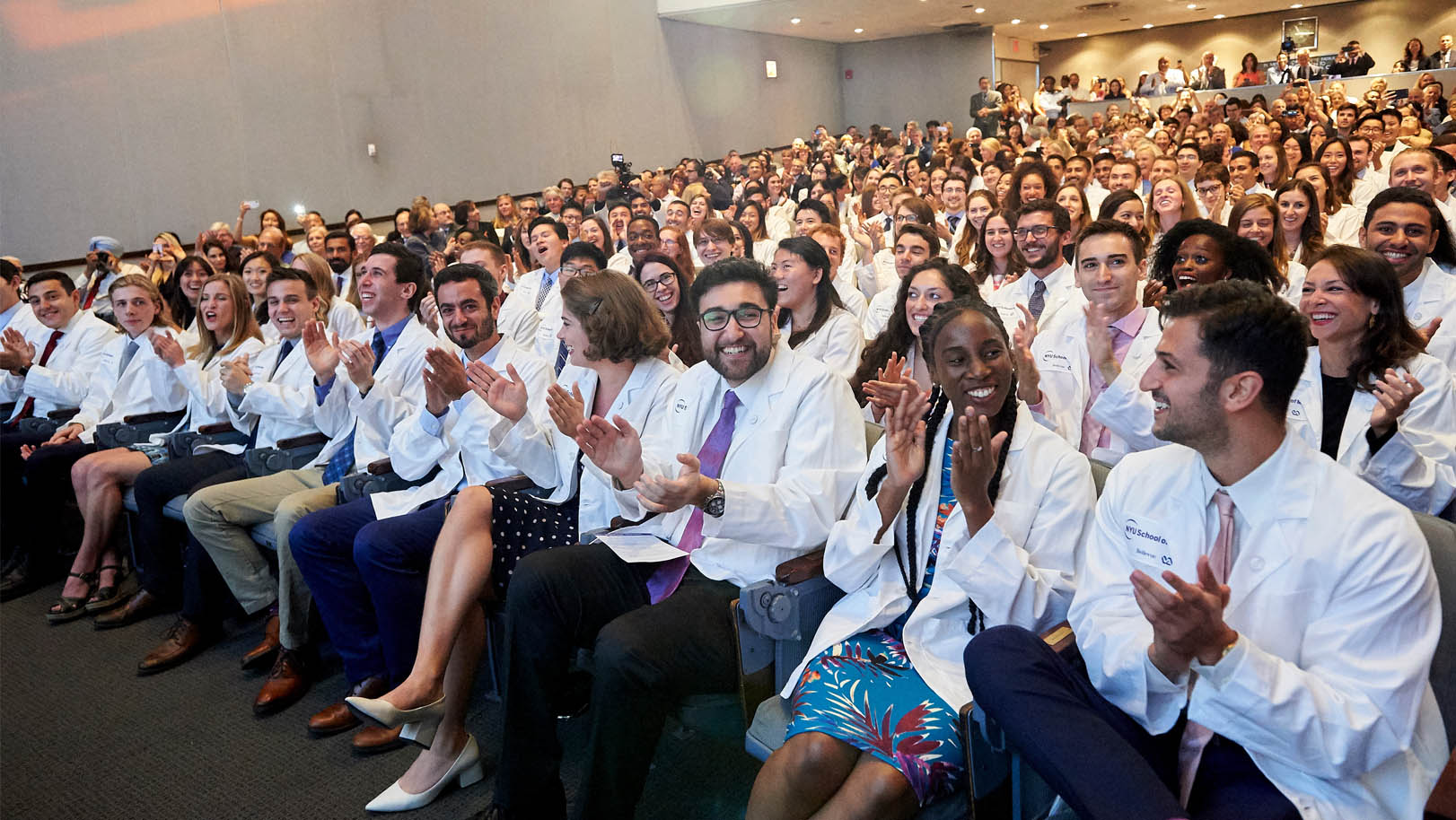 Robert I. Grossman, MD at the NYU School of Medicine graduation supporting scholarships that affords a full ride to NYU Schol of Medicine.