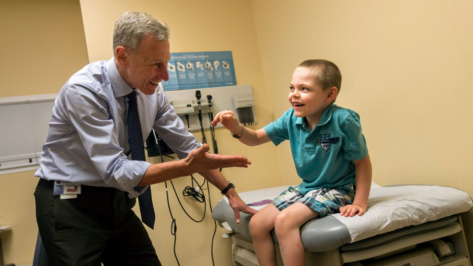Neurologist Dr. Orrin Devinsky and Pediatric Patient