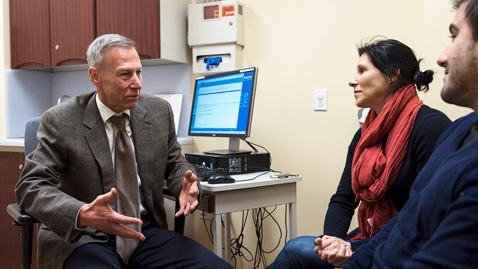 Neurologist Dr. Orrin Devinsky with Patients