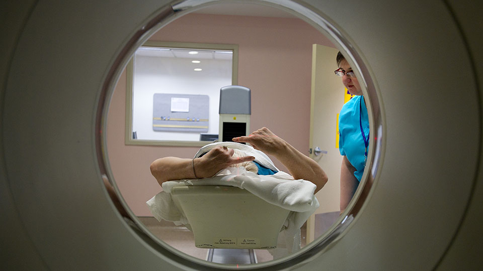 Patient Receives MRI Scan