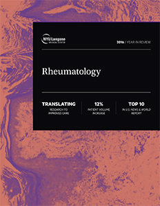 NYU Langone Division of Rheumatology 2016 Year in Review