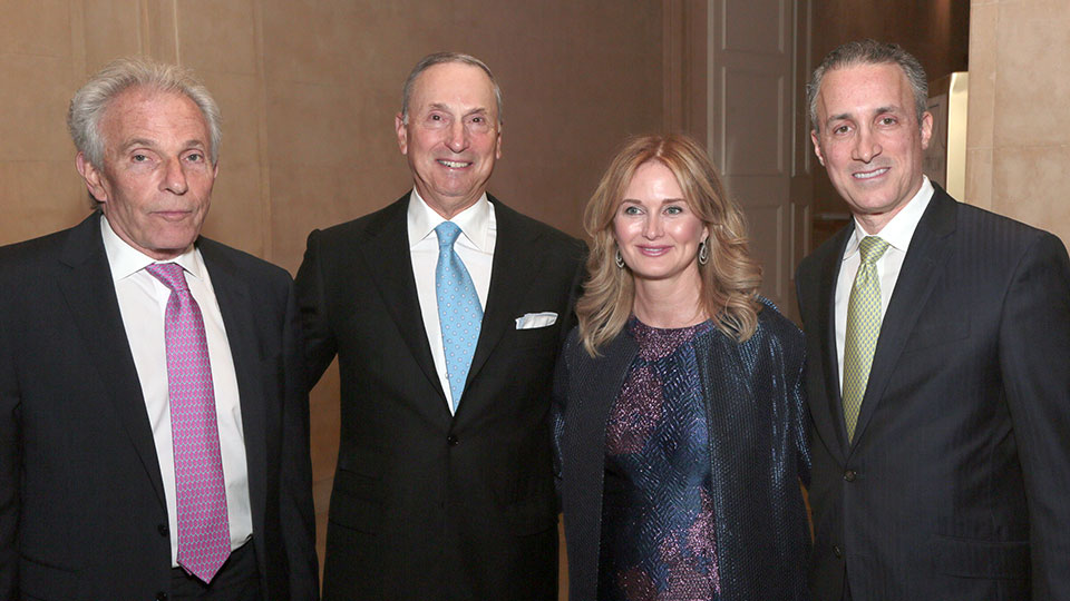 Ron Sedley, Dean and CEO Dr. Robert I. Grossman, Jill Sedley, and Dr. Mark Steele