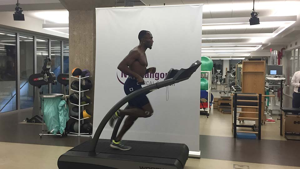 Runner on Treadmill at NYU Langone Sports Performance Center