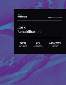 Rusk Rehabilitation at NYU Langone 2016 Year in Review