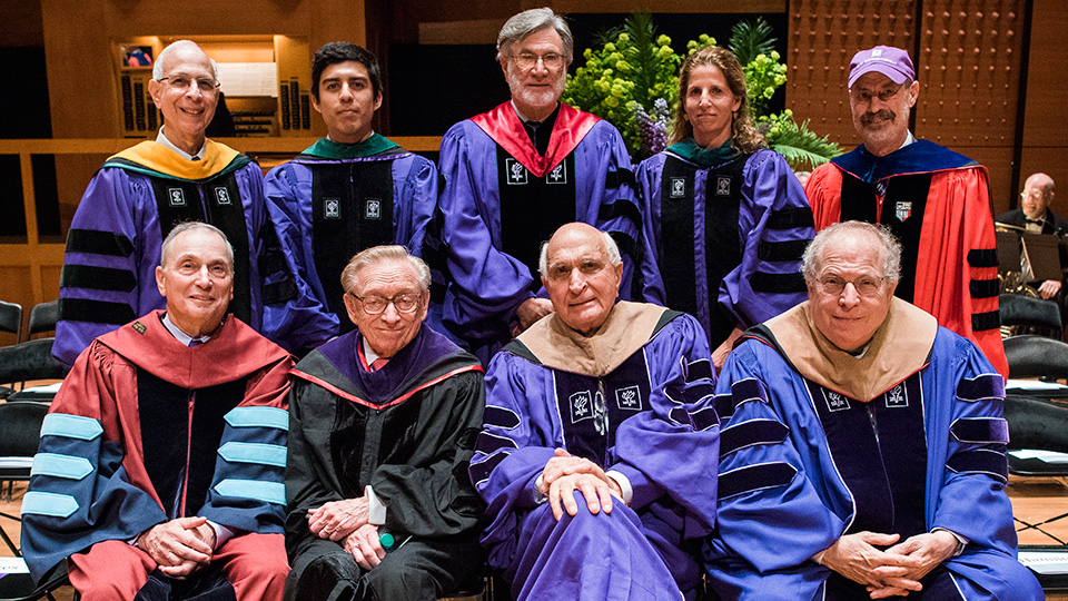 Speakers and Honorees at NYU School of Medicine 2017 Graduation