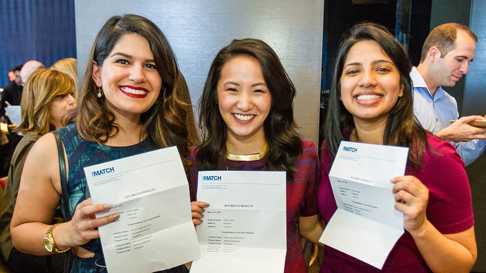 NYU School of Medicine Students With Match Letters