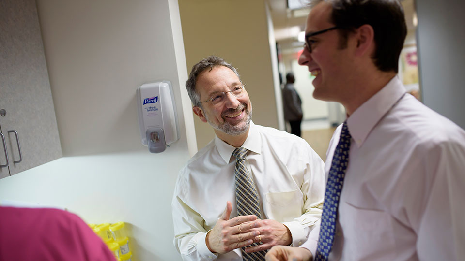 Urologists Dr. Victor Nitti and Dr. Benjamin Brucker