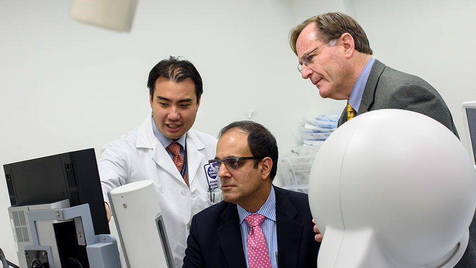 Urologists Dr. William Huang, Dr. Samir Taneja, and Dr. Herbert Lepor