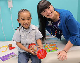 Young Patient in Connecting the Dots Program