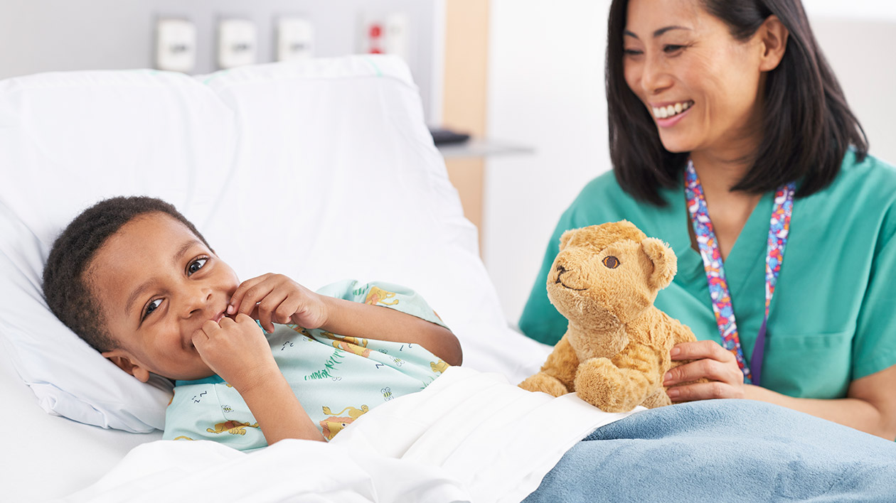 Pediatric Patient with Nurse