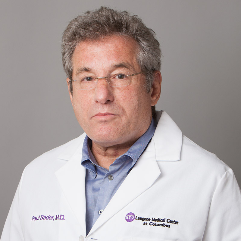 Paul Bader at [NYU Langone Medical Center]