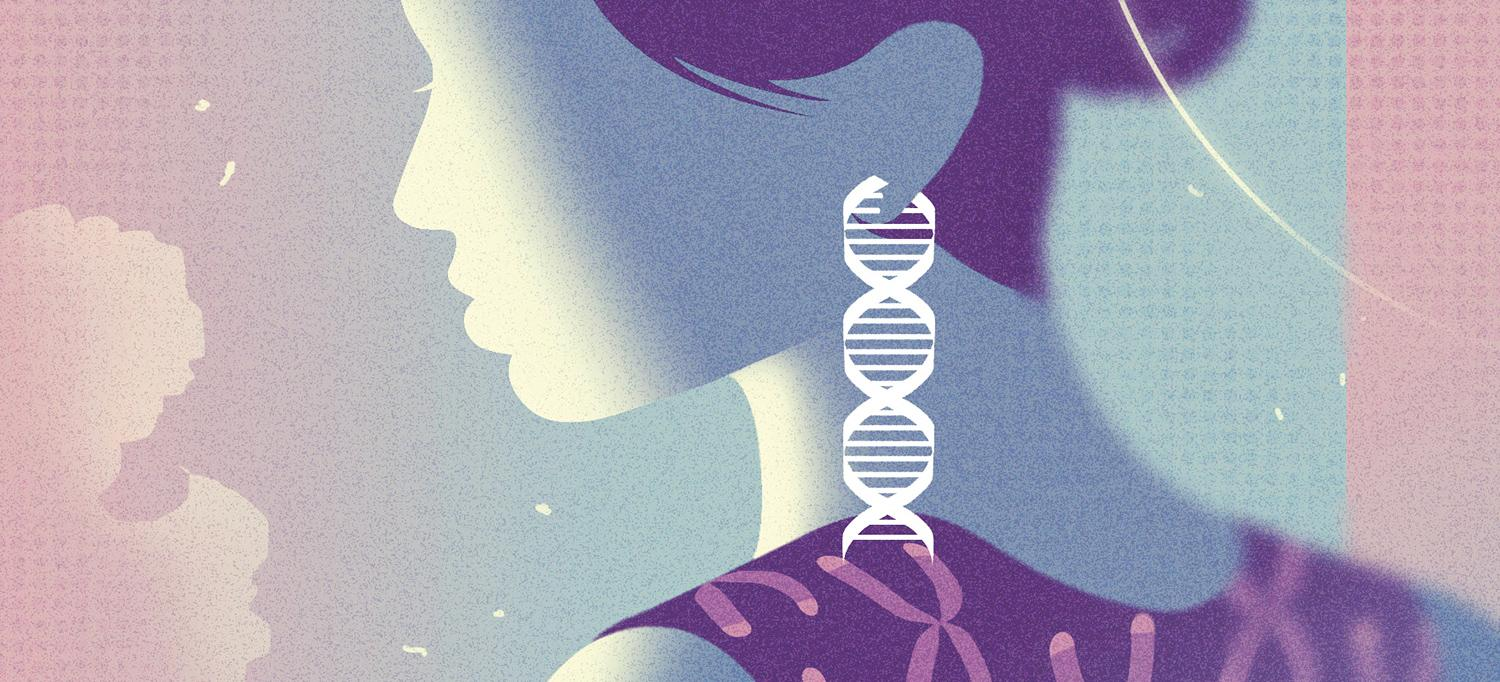 Illustration of Woman and Genome