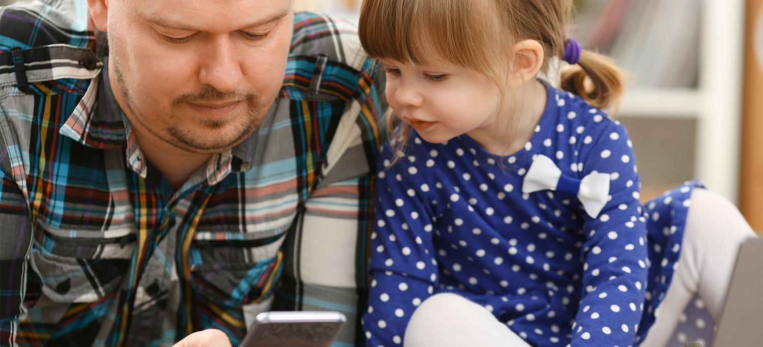 Father and Daughter Use the Autism and Beyond App
