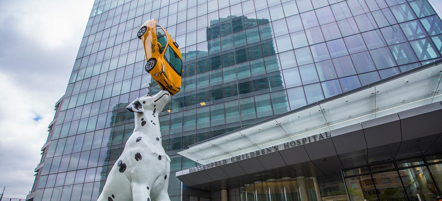 Spot, the Dalmation Sculpture Outside Hassenfeld Children's Hospital