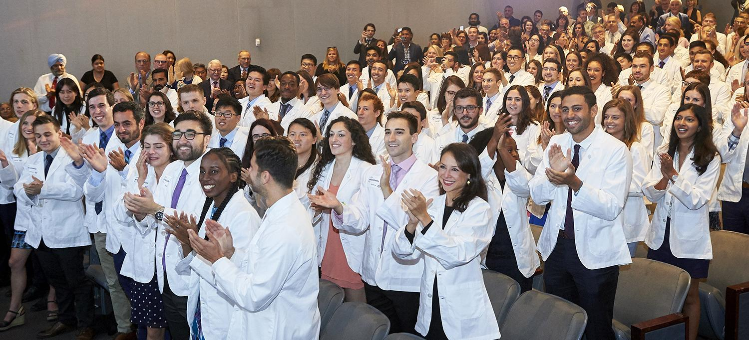 Students at White Coat Ceremony